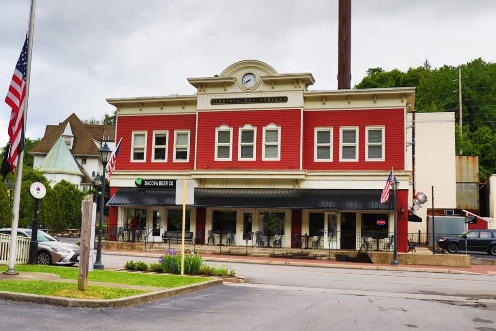 Bacova Beer Company In Hot Springs, Virginia